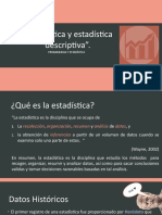 Estadística y estadística descriptiva