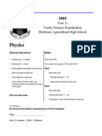 Hurlstone 2005 Physics Prelim Yearly & Solutions.pdf
