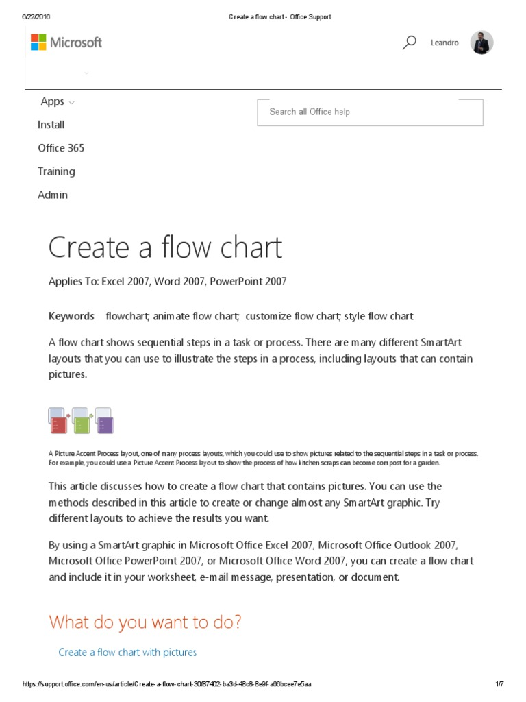 Create a flow chart office support microsoft office software nvjuhfo Gallery