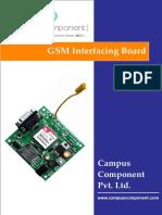 SIM900A Dual-band GSM Interfacing Board