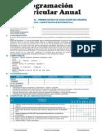 Programación Anual de Educación para el trabajo - Primer grado
