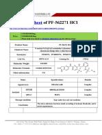 Datasheet of PF-562271 HCl|CAS 939791-41-0|sun-shinechem.com