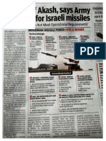 Indian Army Says Enough of Akash Missiles