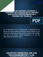 Normas de Control Interno y Control de Calidad