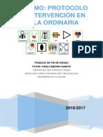 Autismo Protocolo de Intervencion en Aula Ordinaria