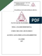 Analisis Dimensional Fluidos
