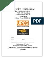 Non Cit Physics Lab Manual Sem 1- 2017-18 (1)
