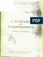 Hubert Prati l' Alphabet Du Saxophoniste