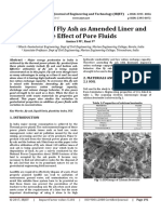 Evaluation of Fly Ash as Amended Liner and the Effect of Pore Fluids