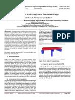 Non-linear Static Analysis of Tee-beam Bridge