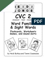 CVC2 Short-AD Word Family Sample