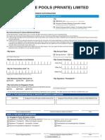 Application for Direct Debit Payment Authorisation Form