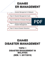 Topic 1 Disaster Management in Malaysia