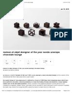 Nendo Chocolate Maison Et Objet Designer of the Year Nendo Unwraps Chocolate Lounge