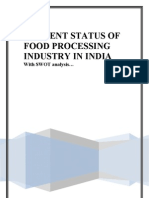 Current Status of Food Processing Industry