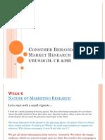 Consumer Behavior & Market Research-WK VI