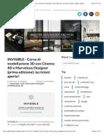 INVISIBLE - Corso di modellazione 3D con Cinema 4D e Marvelous Designer (prima edizione)