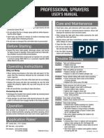 BG Sprayer Parts Breakdown & Owners Manual