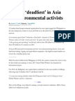 PH Still 'Deadliest' in Asia for Environmental Activists