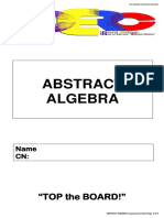 Abstract Algebra LET Review Aug 2015