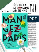 Programme Mangez Paris 2017