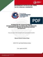 Cordova Manuel Caudales Mantaro Regionalizacion Estadistica
