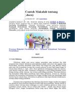Download 2 Contoh Makalah tentang Pendidikan.docx