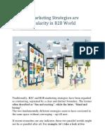 How B2C Marketing Strategies Are Gaining Popularity in B2B World