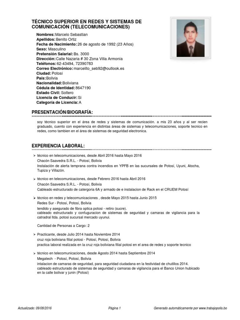 Curriculum Vitae Marcelo