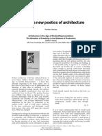 Karsten Harries - Towards a Newpoetics of Architecture