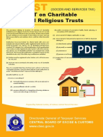 Gst Charitable Religious Trusts