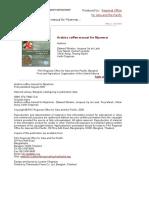 Arabica Coffee Manual Myanmar