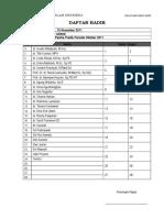 Presensi Panitia Predik-Maret 2012