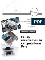 Fallas Recurrentes en Computadoras Ford