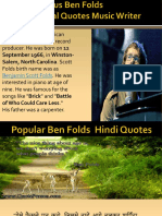 Ben Folds Author Quotes, Inspirational Quotes | Music Arranger | Bandleader | Quoteperson