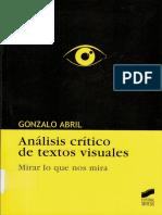 Análisis crítico de textos visuales Gonzalo Abril