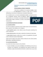 La Organización Política y Territorial
