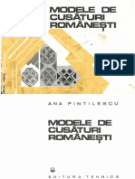 Modele de Cusaturi Romanesti Ana Pintilie Ed Tehnica 1977 PRINTATA PDF