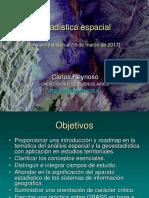 Estadistica Espacial en Estudios Territoriales