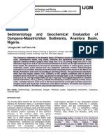 Sedimentology and Geochemical Evaluation of Campano-Maastrichtian Sediments, Anambra Basin, Nigeria.