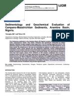 Sedimentology and Geochemical Evaluation of Campano-Maastrichtian Sediments, Anambra Basin, Nigeria.