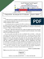 Examen Et Corrige Francais 2014 TCST T3