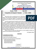 Examen Et Corrige Francais TCST T3 2016