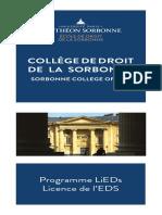 Depliant 3 Volets College de Droit de La Sorbonne EDS Mai 2017