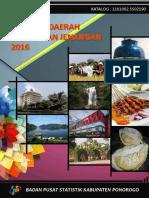 Statistik Daerah Kecamatan Jenangan 2016