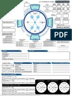 Starship Control Sheet