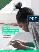 Redbysfr Brochure Tarifaire 2016