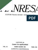 Manresa 1984 1 Estudios de Ejercicios. Otros Estudios. Notas y Comentarios.
