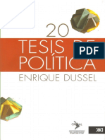 Dussel Enrique - 20 Tesis de Politica