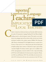 Imported Communicative Language Teaching